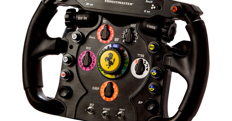 Thrustmaster F1 Ferrari wheel is expensively authentic