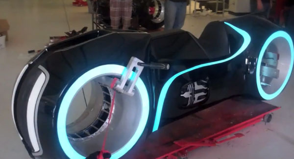 Electric Tron Lightcycle is perfect for green users