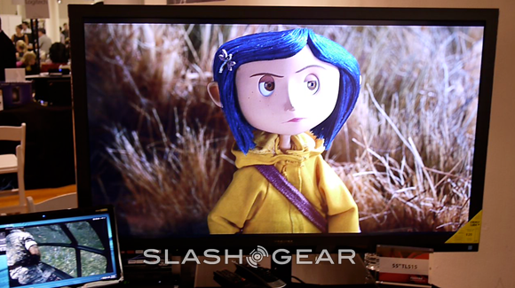 Toshiba 55-inch TL515 Series Natural 3D TV Hands-on [Video]