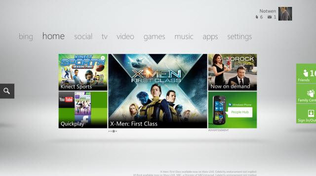 Xbox 360 dashboard update beta in October