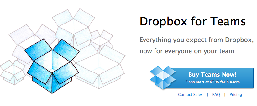 Dropbox for Teams service aims for small business owners