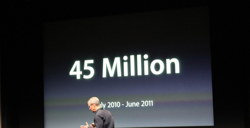 45 million this year ipod