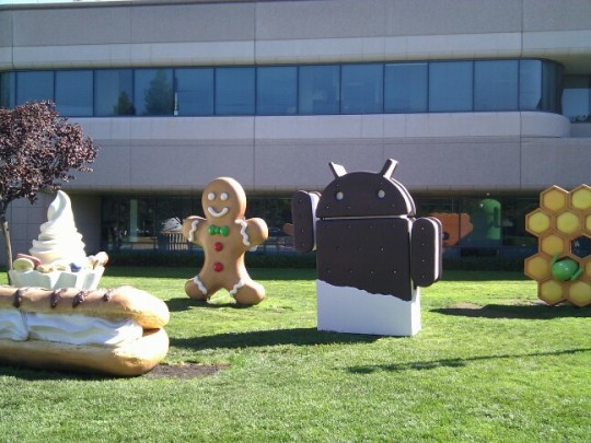 Google HQ adds Android Ice Cream Sandwich statue [Updated with Video]
