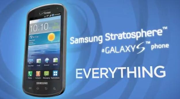 Samsung Stratosphere 4G LTE slider receives first video tour