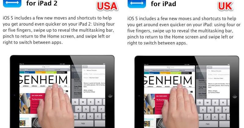 iOS 5 gesture bait & switch frustrates original iPad owners