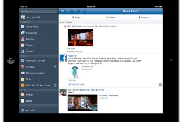 Facebook iPad app finally launches today, iPhone app gets updated