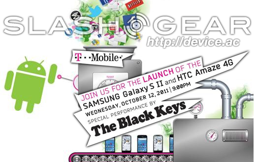 T-Mobile Announces Galaxy S II and HTC Amaze 4G launch event