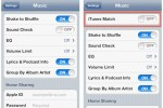 iTunes Match toggle shows up in iOS 5 settings