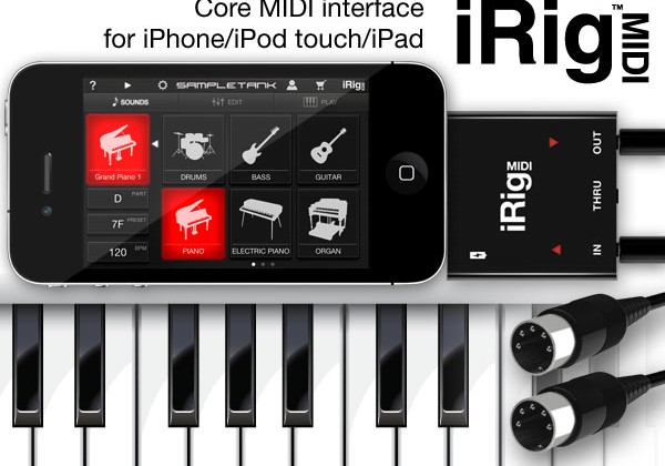iRig MIDI interface for iPad and iPhone now shipping