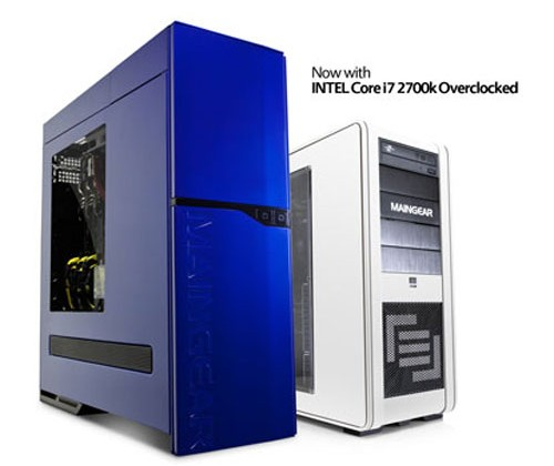 Maingear is now offering PCs with Intel Core i7 2700K CPU