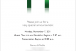 B&N NOOK event November 7: new NOOK Color expected
