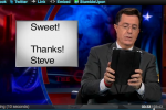 Colbert sends final goodbye to Jobs on iPad 2 he gave him, for free