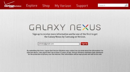 Verizon confirms Galaxy Nexus exclusive