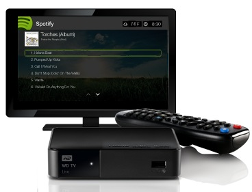 Western Digital adds Spotify support to WD TV range
