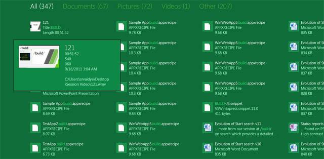 Microsoft details Windows 8 search improvements