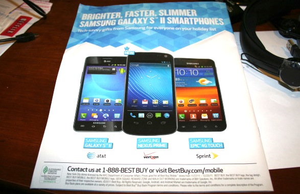 Samsung (Galaxy) Nexus Prime leaked in Best Buy ad, on sale 11/27?