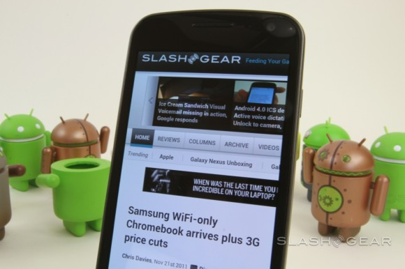 Galaxy Nexus getting Flash and AIR support come December