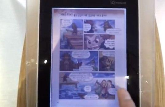 Kyobo mirasol eReader flaunts color e-paper on video