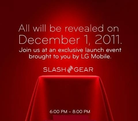 LG schedules special launch event for December 1