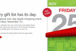 Apple announces worldwide one-day Black Friday sale on Nov 25th