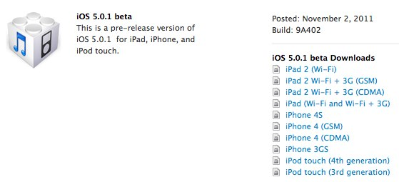 iOS 5.0.1 beta fixes battery woes, enables iPad gestures