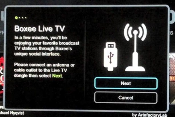 Boxee Live TV update leaks