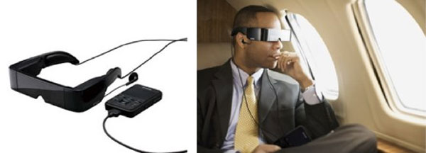 Epson Moverio BT-100 video glasses have see through lenses