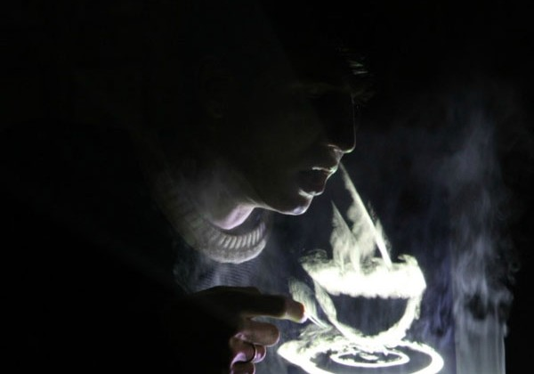 Displair puts images onto fog that are touch interactive