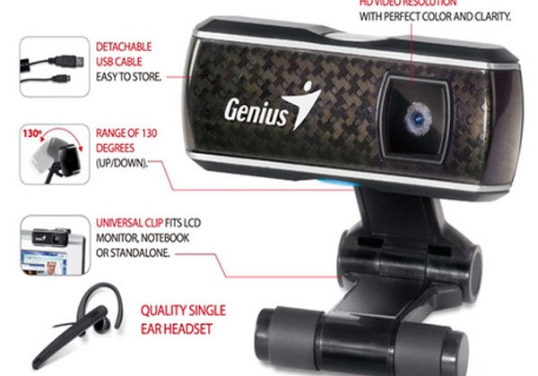 Genius launches FaceCam 3000 with headset
