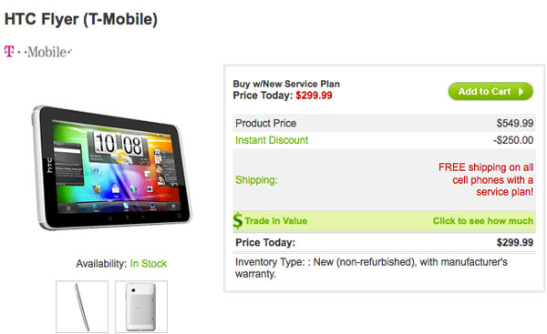 HTC Flyer tablet now available for T-Mobile