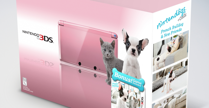 Pink Nintendo 3DS announced with nintendogs in tow