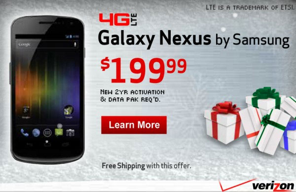 Verizon LTE Galaxy Nexus price tipped via ad