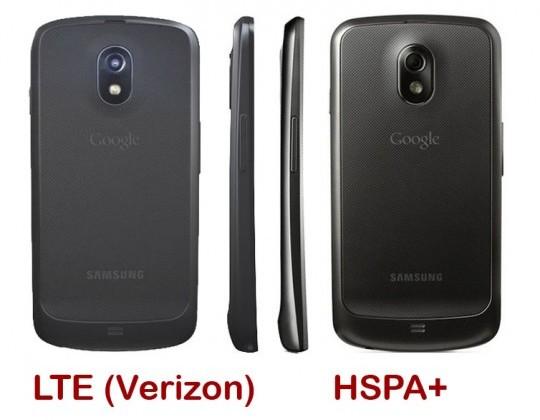 Galaxy Nexus LTE shows off its extra bulk