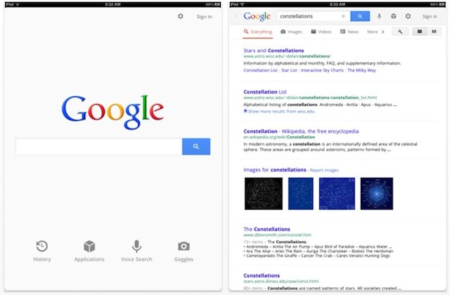 Google revamps iOS Search app with Google+ styling, full-screen mode, and more