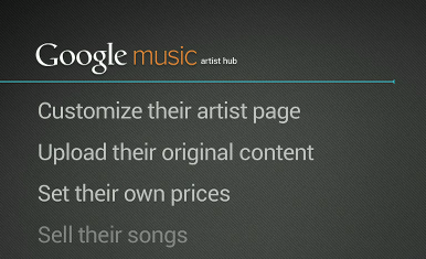 Google Music works with Major Labels, Indy Labels, and shares galore