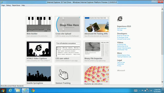 Internet Explorer 10 platform preview 4 released