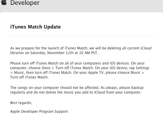 iTunes Match library reset signals imminent launch