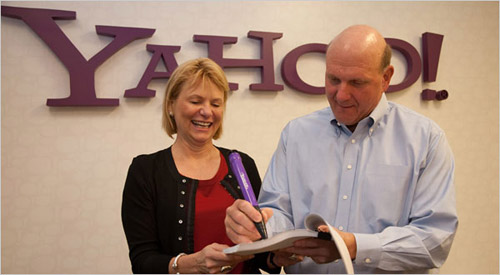 Microsoft considers buying Yahoo, signs NDA