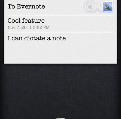 Evernote explains how it works with Siri