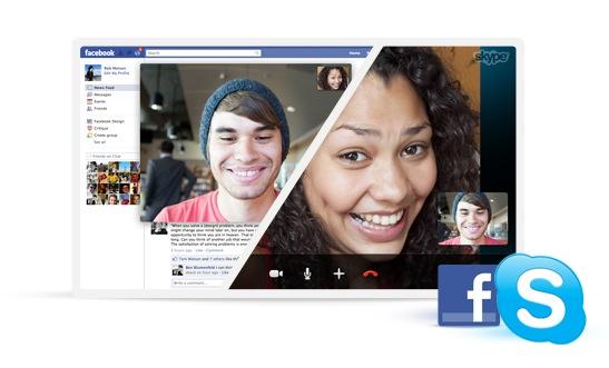 Skype adds Facebook to Facebook video calls