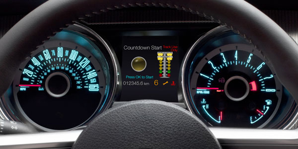 Ford crams track apps into all 2013 Mustangs and adds 550W stereo option