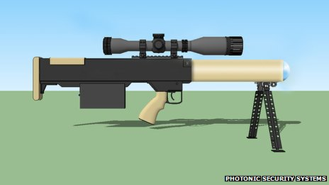 SMU 100 Laser Rifle tested by UK Police
