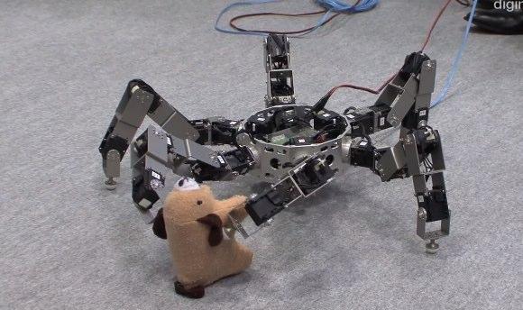 Asterisk insect robot demos prey-grabbing talents