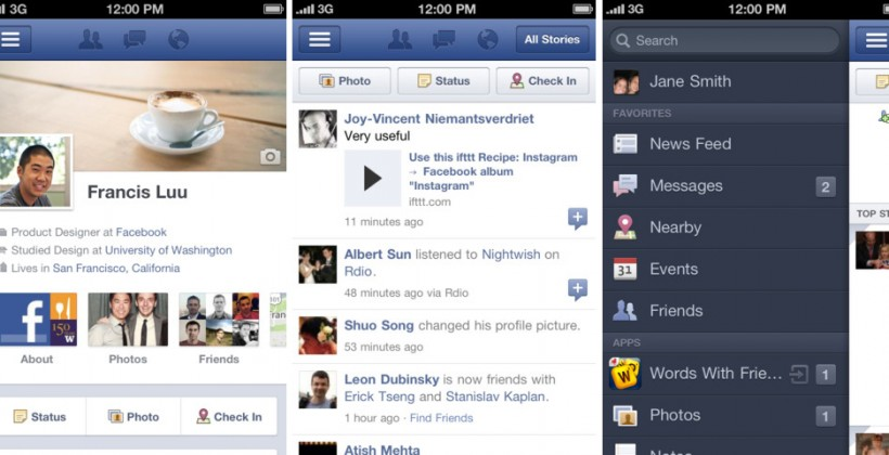 "Facebook for iPhone gets Timeline; iPad update ""soon"""