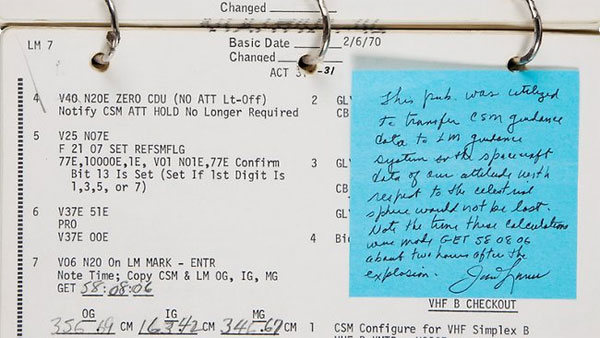 Auction nabs $380,000 for Apollo 13 checklist
