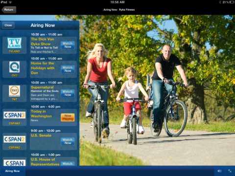 Cox TV Connect for iPad streams live TV