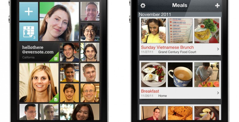 Evernote Hello and Food apps jog social and meal memories