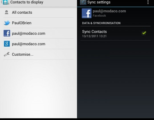 Galaxy Nexus ICS ROM restores Facebook contacts sync