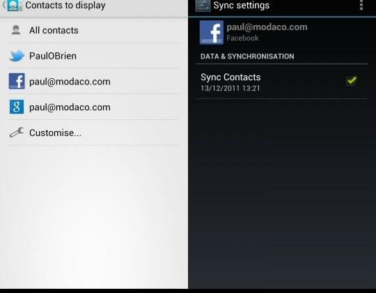 Galaxy Nexus ICS ROM restores Facebook contacts sync