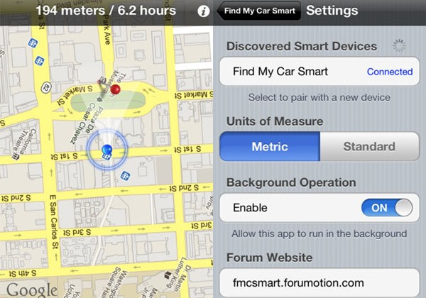 Find My Car Smart for iPhone hits Kickstarter